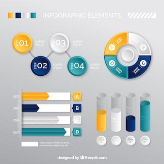 Nuttig infographic elementen in realistische ontwerp
