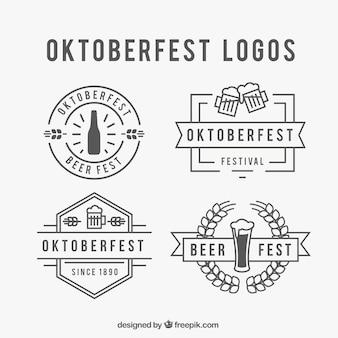 Oktoberfest logo set