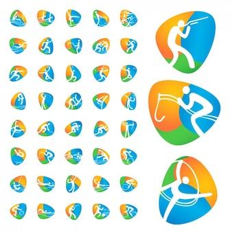 Olympische spelen iconen collectie