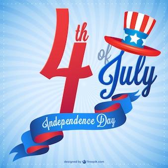 Onafhankelijkheidsdag vrije vector graphics