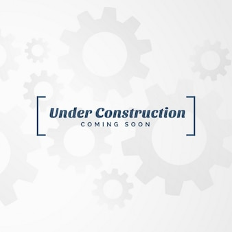 Onder constructie tekst met versnellingen