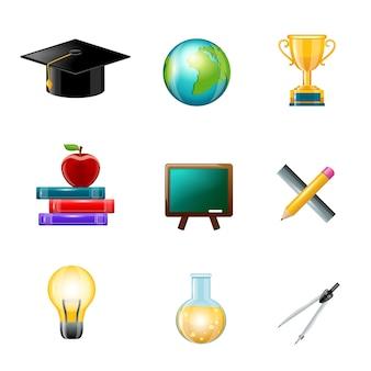 Onderwijs icoon realistisch