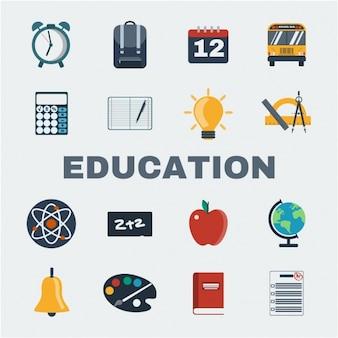 Onderwijs pictogrammen collectie
