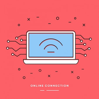 Online Connection Linear Vector Element
