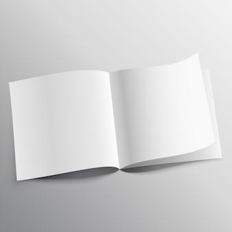Open boek met pagina krul mockup sjabloon ontwerp