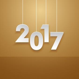 Opknoping 2017 tekst in minimalistische stijl kaart