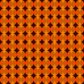 Oranje achtergrond met elkaar overlappende cirkels
