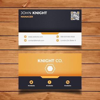 Oranje corporate business card
