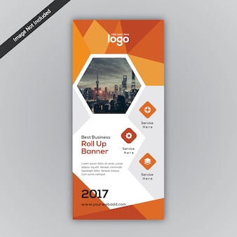 Oranje roll-up ontwerp