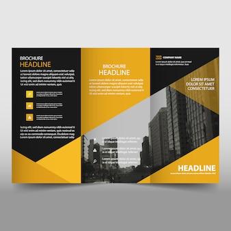 Oranje trifold Brochure brochure sjabloon