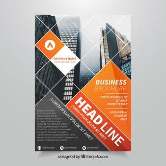 Oranje zakelijke brochure