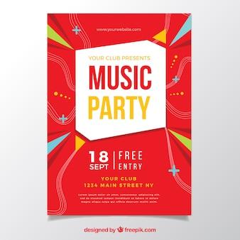 Originele feest poster met geometrische stijl