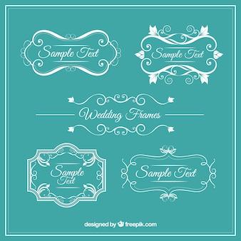 Ornamental vintage huwelijk frames