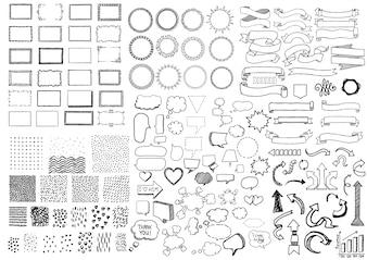 Ornamentele elementen collectie