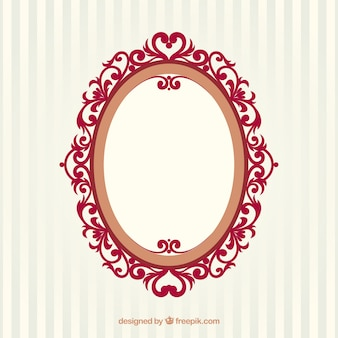 Ovale vintage frame