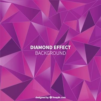 Paarse achtergrond met grote diamant effect
