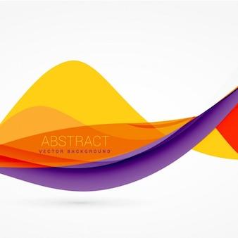 Paarse en gele kleur golf achtergrond ontwerp