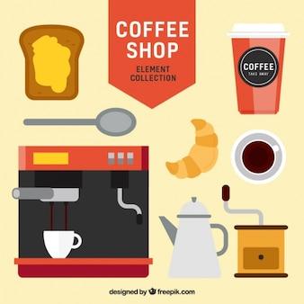 Pack cafe met heerlijke croissant en toast