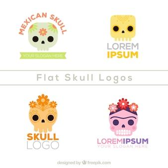 Pack van Mexicaanse schedel logo