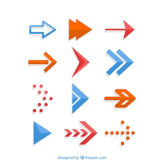 Pak van creatieve pijlen in plat design