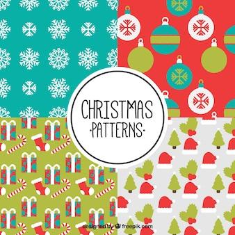Pak van mooie patronen met kerstartikelen