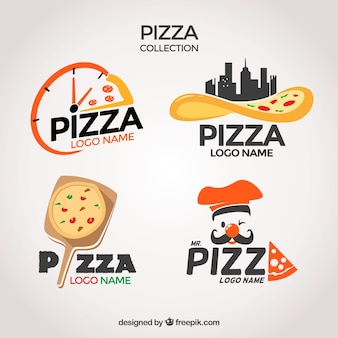 Pakje pizzeria's logo's