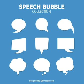 Pakje witte spraakbellen