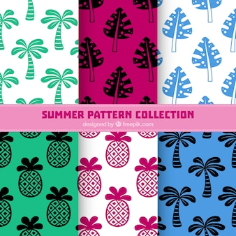 Palm zomer patroon collectie