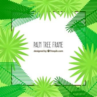 Palmbladen frame in vlakke bouwvorm