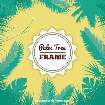 Palmboom verlaat frame