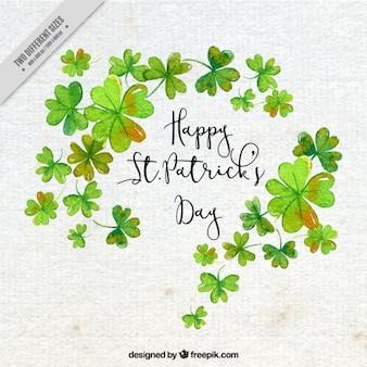 Paper achtergrond met klavers voor St. Patrick's day