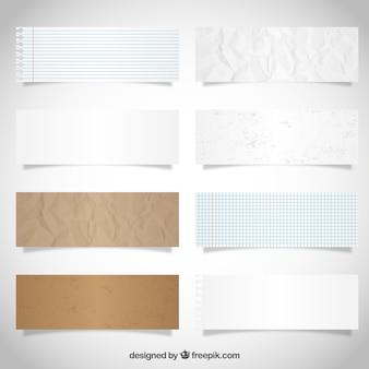 Papier banners