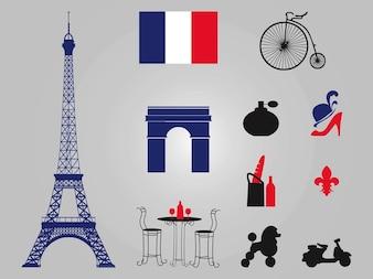 Parijs Eiffeltoren architectuur vectoren