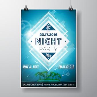 Partij poster ontwerp