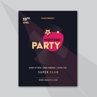 Party affichemalplaatje