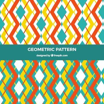 Patronen van decoratieve geometrische vormen