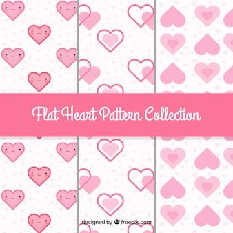 Patronen van decoratieve harten