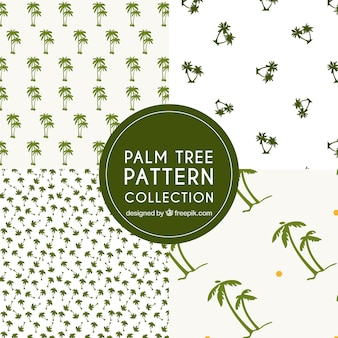 Patronen van groene palmbomen collectie