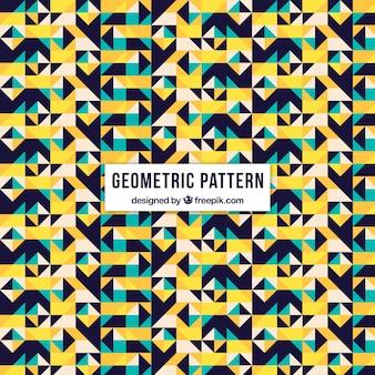Patroon van geometrische vormen in vlakke vormgeving