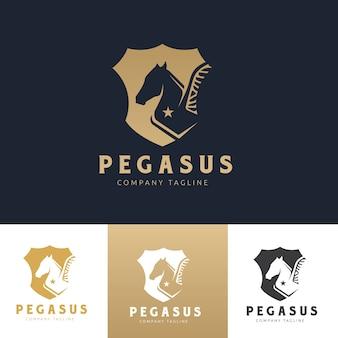 Pegasus Logo. Horse logo