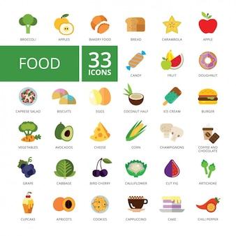 Pictogrammen van het voedsel collectie