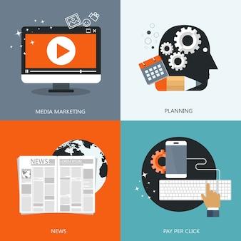 Pictogrammen voor web en mobiel