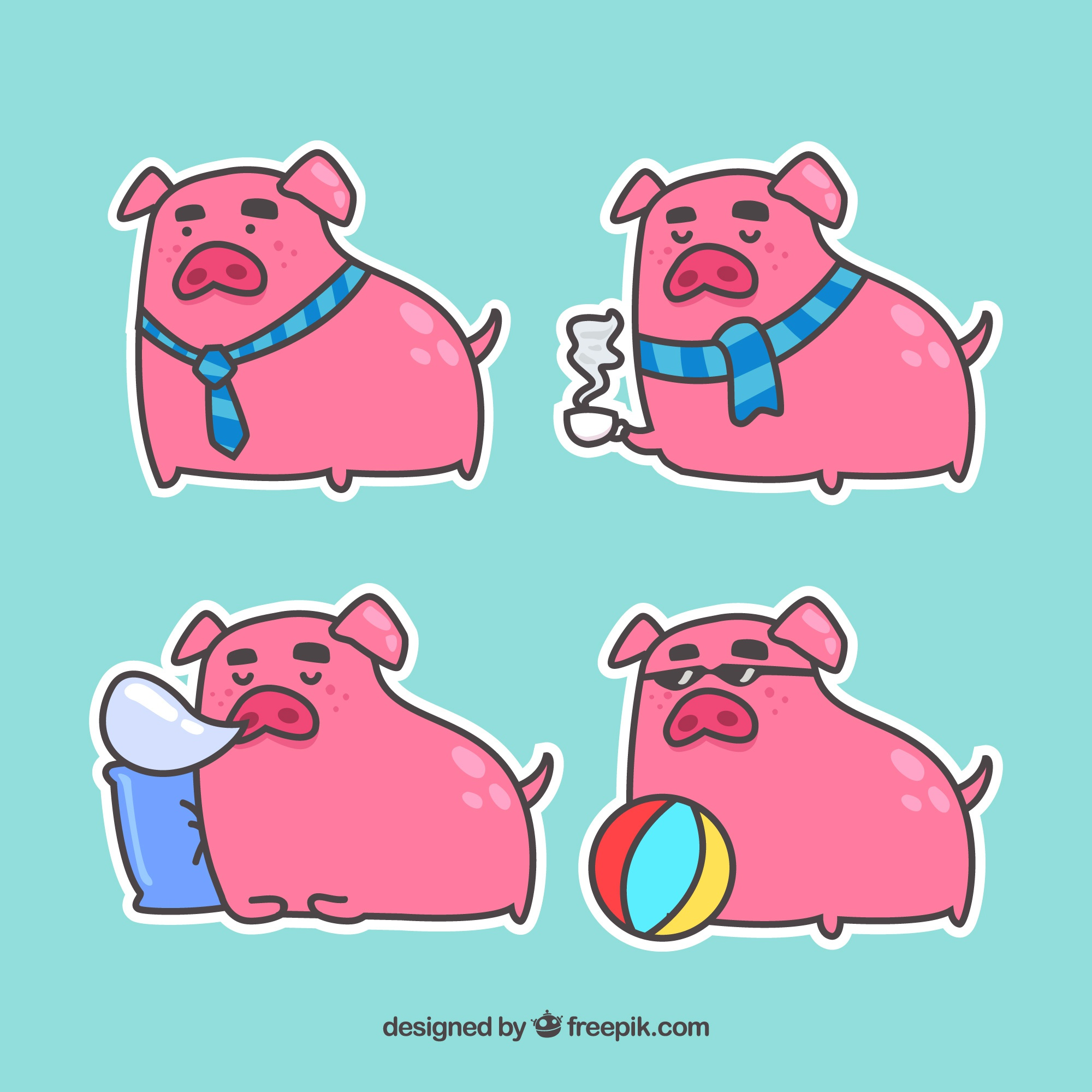 Piggy sticker collectie