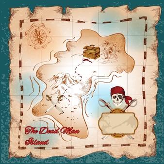 Pirate map achtergrond