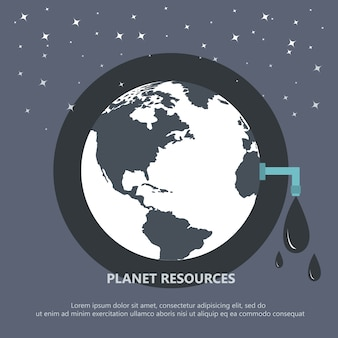 Planet resource concept
