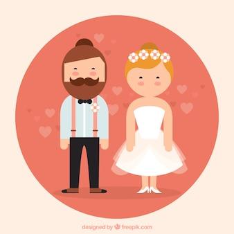 Platte Joodse Bruidspaar