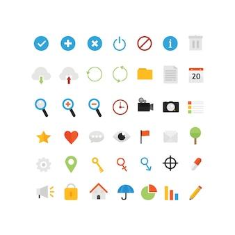 Platte Pictogrammen voor UI Design