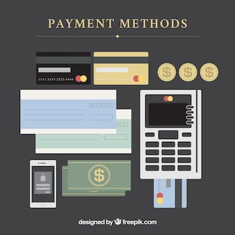 Platte samenstelling met betaalmethoden