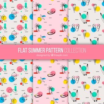 Platte zomerpatroonverzameling