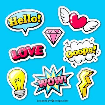 Pop-art pack van originele stickers